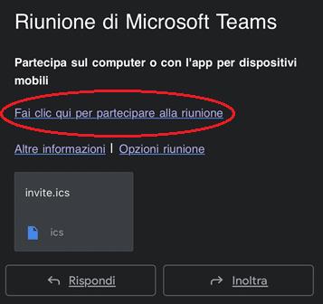 Esempio Mail Riunione Teams