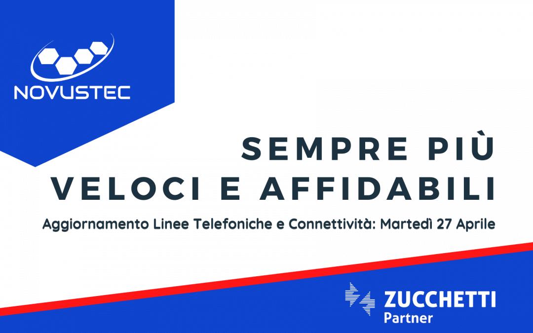 Aggiornamento Linee Telefoniche e Connettività: Martedì 27 Aprile